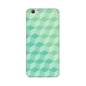 3D Cubes Oppo F1s Mobile Back Case