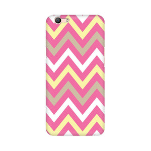 Yellow And Pink Broad Chevron Oppo F1s Mobile Back Case
