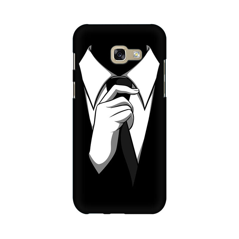 Black Tie Samsung A7 2017 Mobile Back Case - JumboShoppers