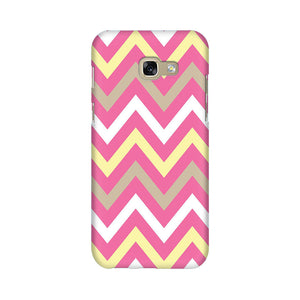 Yellow And Pink Broad Chevron Samsung A7 2017 Mobile Back Case