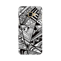 Black And White Abstract Samsung C5 Pro Mobile Back Case - JumboShoppers