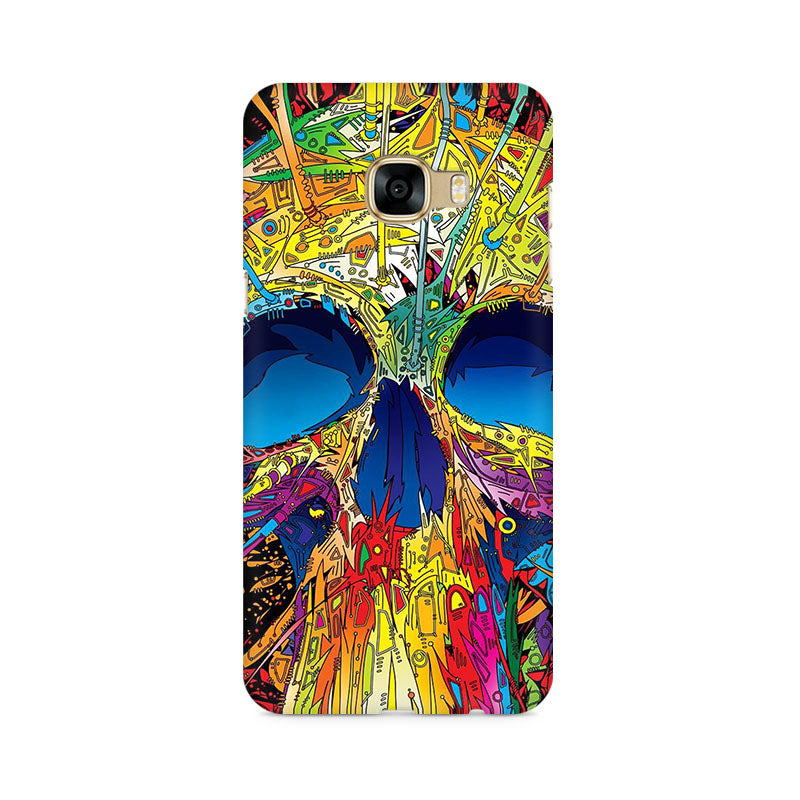 Abstract Skull Art Samsung C5 Pro Mobile Back Case - JumboShoppers