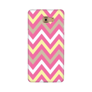 Yellow And Pink Broad Chevron Samsung C9 Pro Mobile Back Case