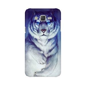 White Tiger Samsung Galaxy J5 Mobile Back Case