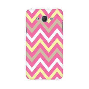 Yellow And Pink Broad Chevron Samsung Galaxy J5 Mobile Back Case