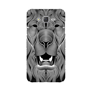 Wavy Lion Samsung Galaxy J7 Mobile Back Case