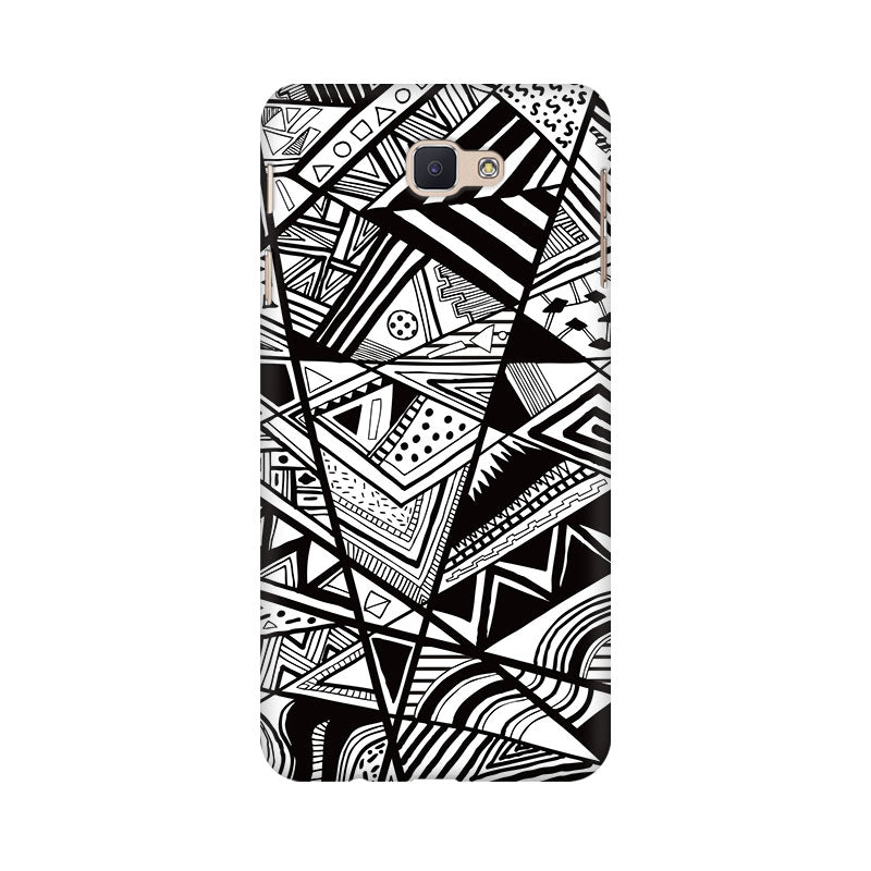 Black And White Abstract Samsung Galaxy J7 Prime Mobile Back Case - JumboShoppers