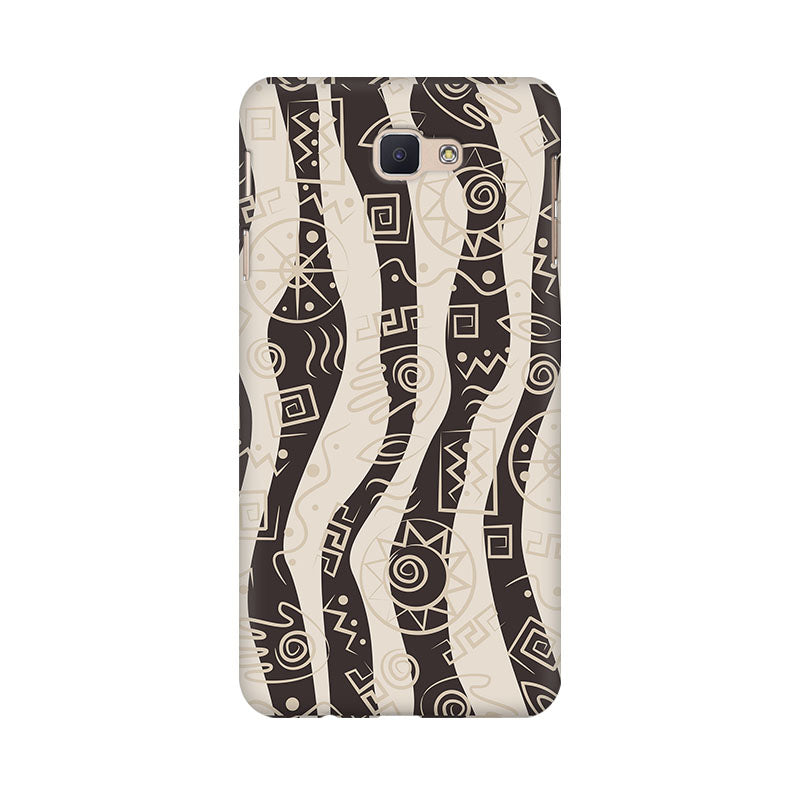 Abstract Tribal Wave Samsung Galaxy J7 Prime Mobile Back Case - JumboShoppers