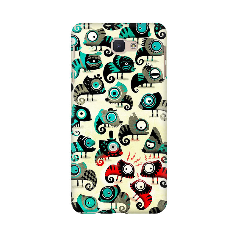 Colorful Chameleon Samsung Galaxy J7 Prime Mobile Back Case - JumboShoppers