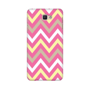 Yellow And Pink Broad Chevron Samsung Galaxy J7 Prime Mobile Back Case
