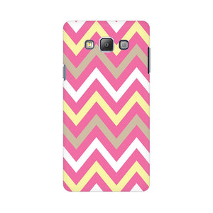 Yellow And Pink Broad Chevron Samsung Galaxy On 5 Mobile Back Case