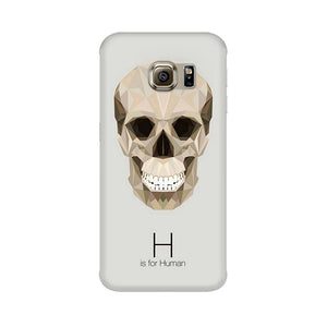 H For Human Samsung Galaxy S6 Edge Plus Mobile Back Case
