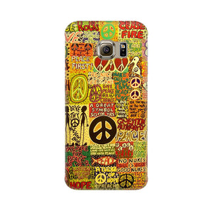 Hippy Peace Samsung Galaxy S6 Edge Plus Mobile Back Case