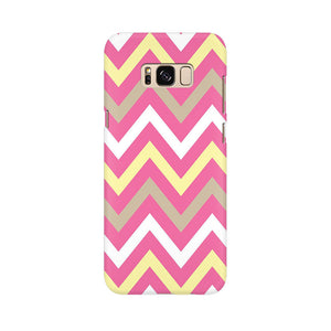Yellow And Pink Broad Chevron Samsung Galaxy S8 Mobile Back Case