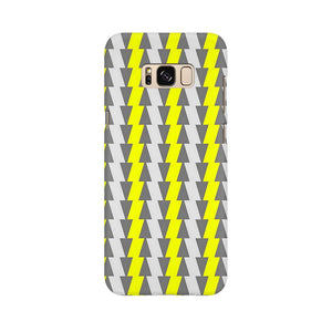 Yellow And White Cards Samsung Galaxy S8 Mobile Back Case