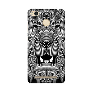 Wavy Lion Xiaomi Redmi 3s Prime  Mobile Back Case