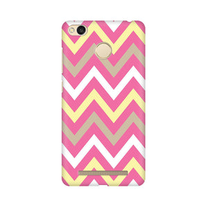 Yellow And Pink Broad Chevron Xiaomi Redmi 3s Prime  Mobile Back Case