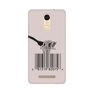Barcode Noodels Xiaomi Redmi Note 3  Mobile Back Case