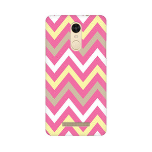 Yellow And Pink Broad Chevron Xiaomi Redmi Note 3  Mobile Back Case
