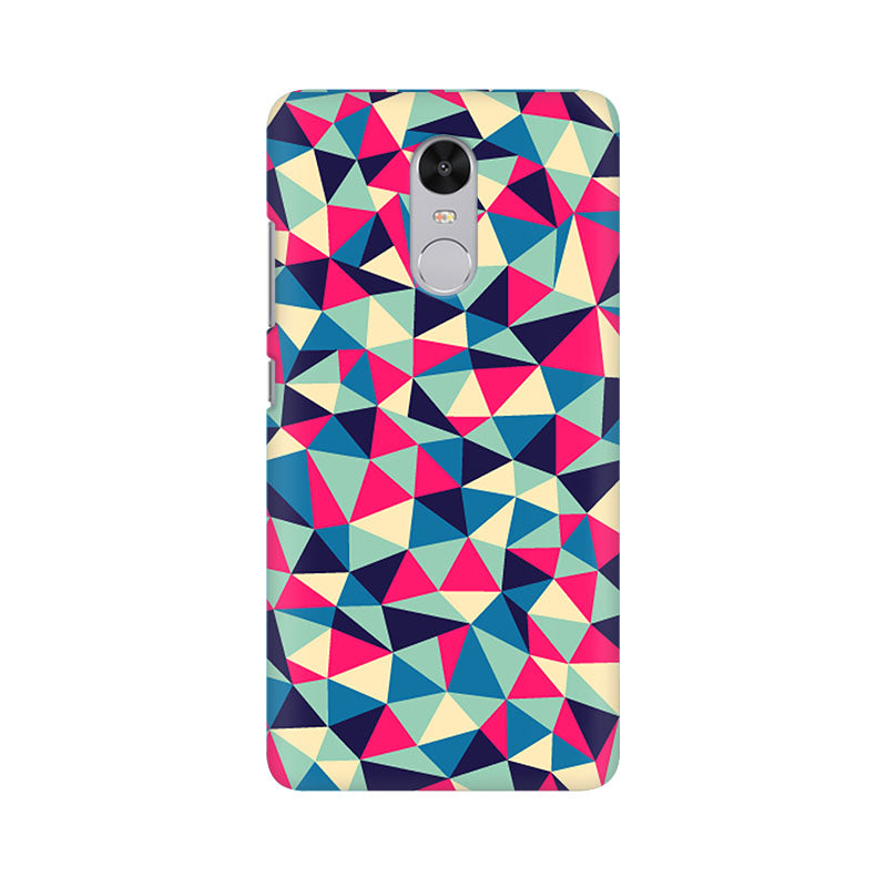 Colorful Triangles Xiaomi Redmi Note 4 Mobile Back Case - JumboShoppers