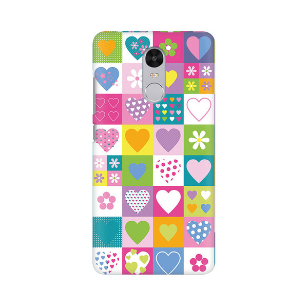 Abstract Hearts Xiaomi Redmi Note 4 Mobile Back Case - JumboShoppers