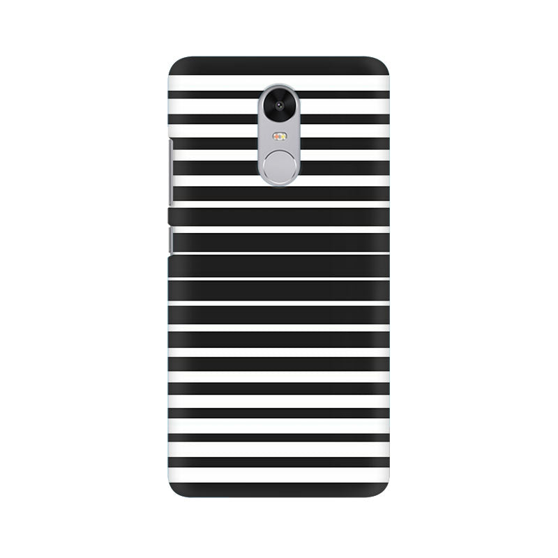 Black And White Stripes Xiaomi Redmi Note 4 Mobile Back Case - JumboShoppers