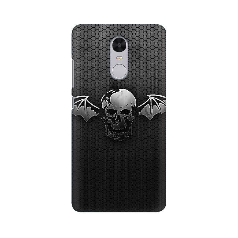 Black Skull Wings Xiaomi Redmi Note 4 Mobile Back Case - JumboShoppers