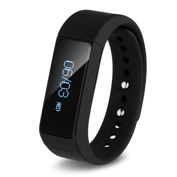 iWOWN i5 Plus Smart Fitness band IP67, Bluetooth 4.0, Push Message, Remote Control, Passometer Fitness Tracker, Call Alert for iphone and Android Phones Phones (Black) - JumboShoppers