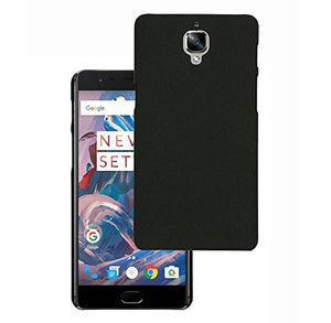 Pudini Dark Color hard plastic hard back case cover for OnePlus 3 / OnePlus 3T - Black