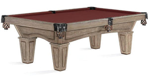 8 ' BRUNSWICK ALLENTON RUSTIC POOL TABLE IN DRIFTWOOD FINISH