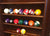 Combo Walnut finish 8 pool cues billiard wall cue rack