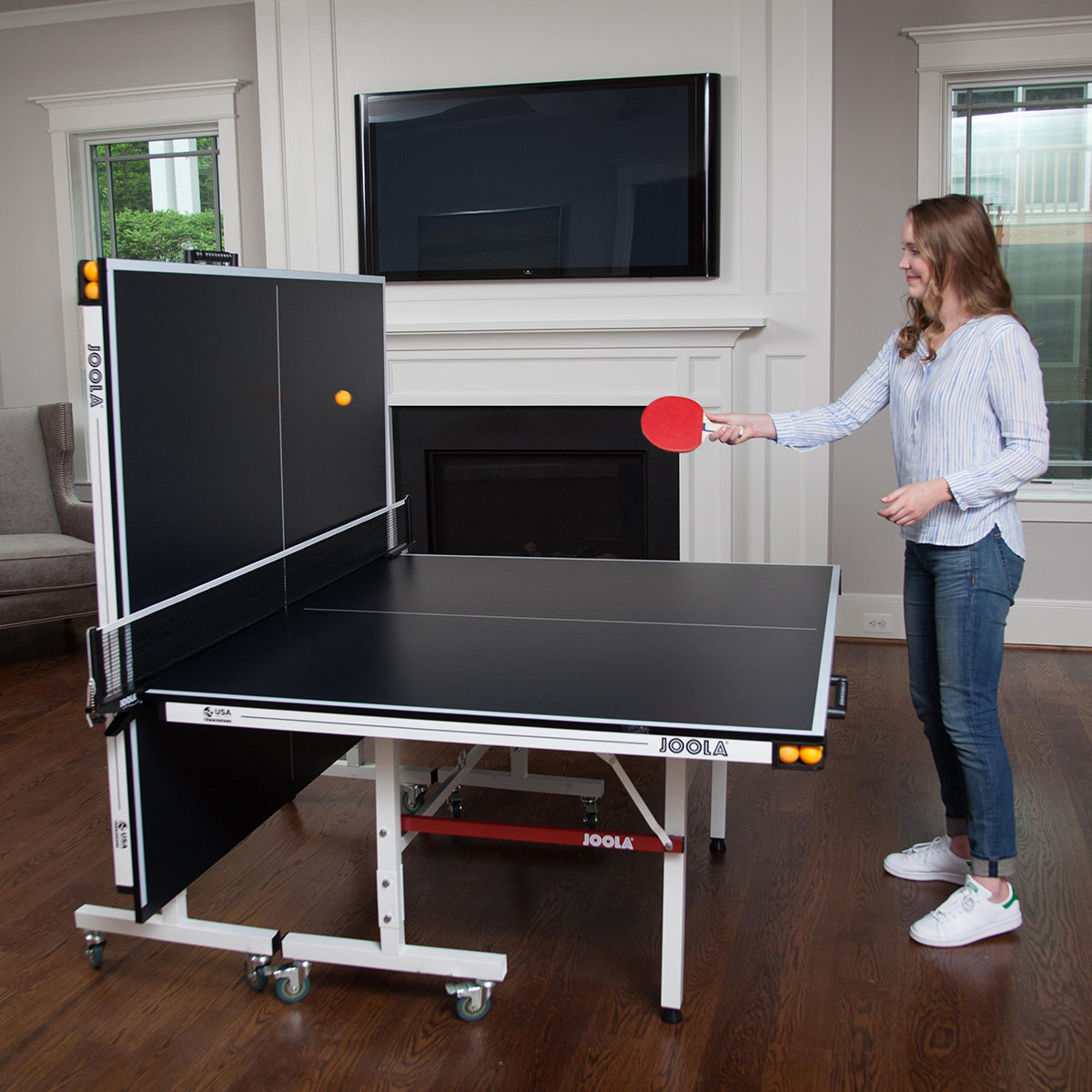JOOLA DRIVE 1800 INDOOR TENNIS TABLE WITH NET SET (18MM THICK) gamingtables.ca