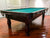 9' PREOWNED DUFFERIN SLATE POOL TABLE INSTALLED WITH ACCESSORIES