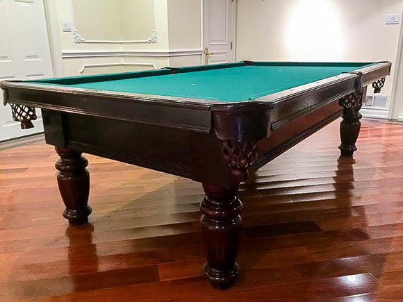 9' PREOWNED DUFFERIN SLATE POOL/ SNOOKER TABLE INSTALLED WITH ACCESSORIES