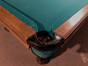 9' PREOWNED DUFFERIN SLATE POOL /SNOOKER TABLE INSTALLED WITH ACCESSORIES