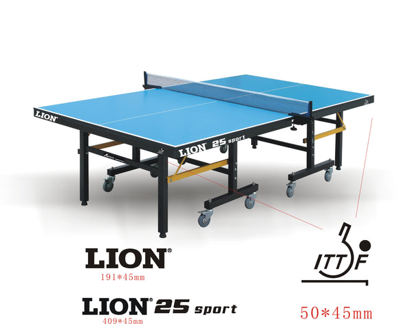 LION COMPETITION INDOOR TENNIS TABLE WITH NET SET (25MM THICK)