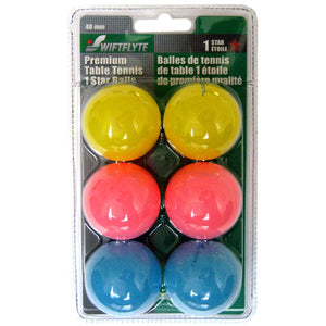 Swiftlyte 1 Star Fluorescent Table Tennis Balls