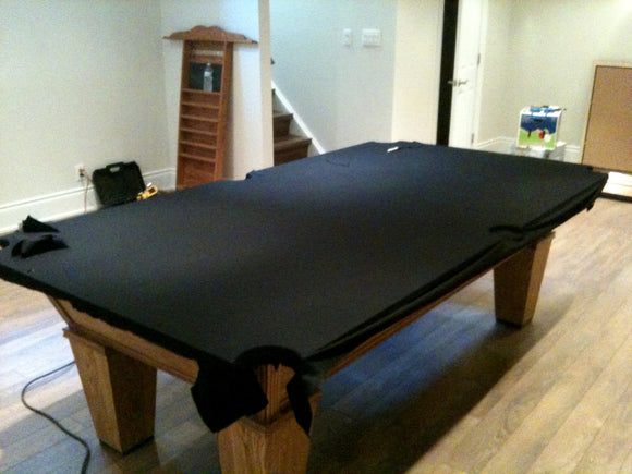 Pool table installation