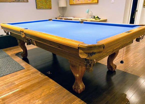 PREOWNED 8' DUFFERIN SLATE POOL TABLE INSTALLED WITH ACCESSORIES