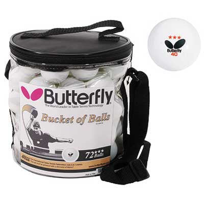 Butterfly Bucket of 72 Table Tennis Balls