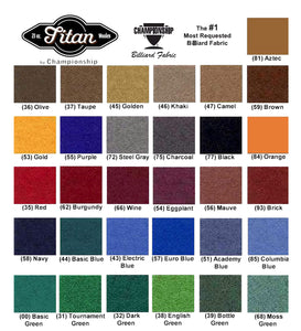 Championship Invitational Teflon Billiard Cloth