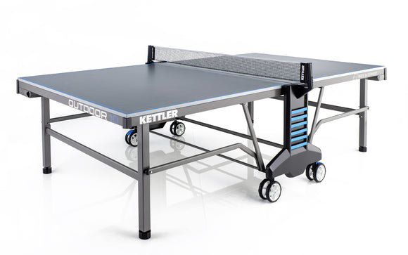 KETTLER 10 OUTDOOR TENNIS TABLE WITH NET SET (22MM THICK)