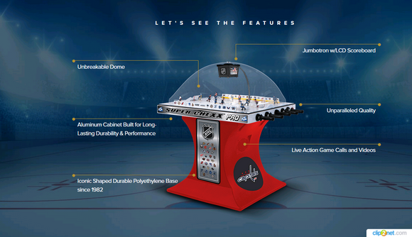 Super Chexx Pro Coin Operated Bubble Hockey