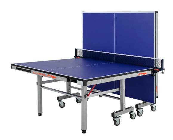LI-NING LNX P2000 INDOOR TENNIS TABLE (25 MM) WITH RACKET AND BALL COMPARTMENT. BLUE
