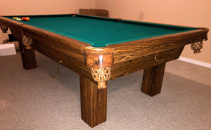 PREOWNED 8' DUFFERIN SLATE POOL/SNOOKER TABLE INSTALLED WITH ACCESSORIES