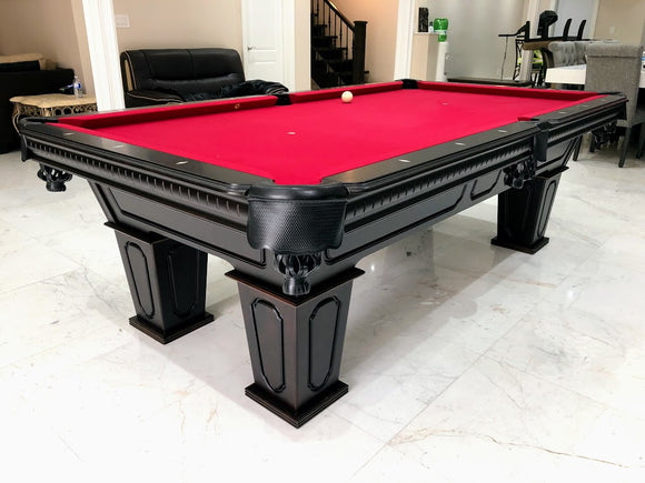 BERINGER SIERRA BOLD ESPRESSO POOL TABLE. PLEASE CONTACT FOR PRICING