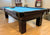 PREOWNED 9' OLHAUSEN  POOL TABLE INSTALLED WITH ACCESSORIES