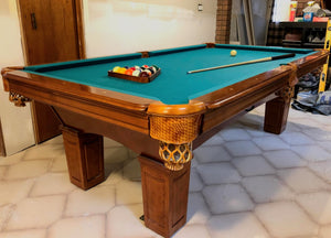 PREOWNED 8' MONACO POOL TABLE DELIVERD AND INSTALLED