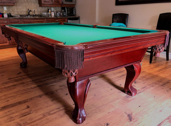 PREOWNED 8' SCHMIDT POOL TABLE INSTALLED WITH ACCESSORIES