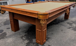 PREOWNED 9' DUFFERIN SLATE POOL TABLE INSTALLED WITH ACCESSORIES